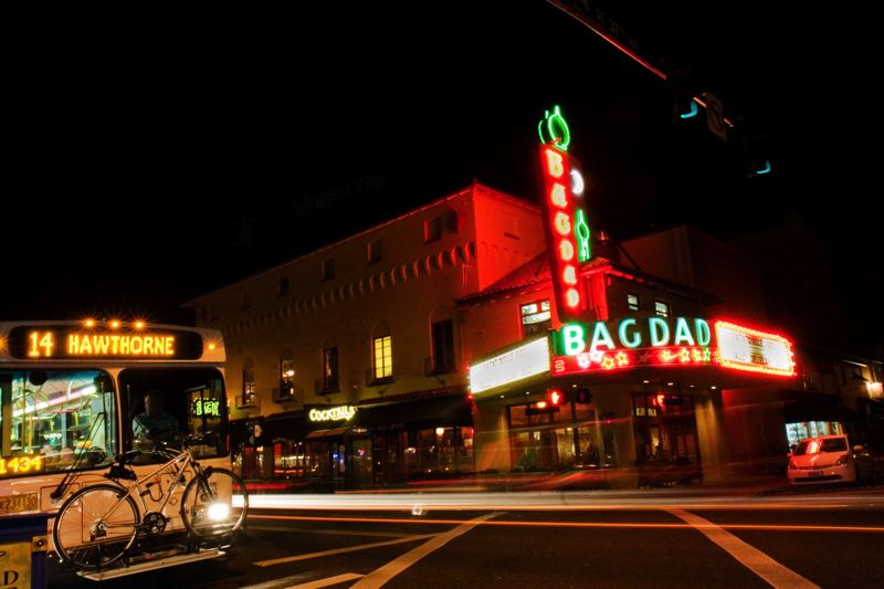 by: PHOTOS COURTESY OF LIZ DEVINE - The Bagdad Theater was one of the locations of the making of 'What The Bleep Do We Know?' The movie enjoyed a 3 1/2-month run in 2004 at the beautiful and ornate theater on Southeast Hawthorne Boulevard.