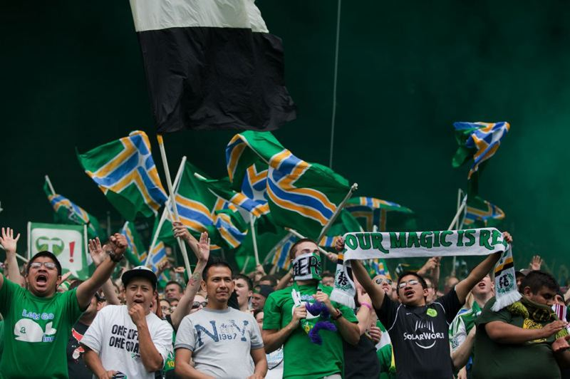 by: TRIBUNE FILE PHOTO: MEG WILLIAMS - Portland Timbers fans will get another chance to root against Seattle when the Sounders visit Jeld-Wen Field on Thursday, Nov. 7 to cap a two-game, aggregate goal MLS playoff series.