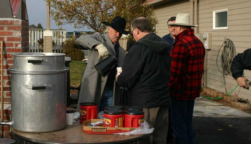 by: CENTRAL OREGONIAN - During the Lord's Acre Day event, people can enjoy a hot cup of coffee to start their morning