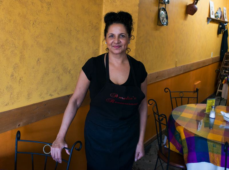 by: HILLSBORO TRIBUNE PHOTO: CHASE ALLGOOD - Amelia Ramirez is the mother of Amelias Restaurant owner Josue Mondragon and the restaurant's namesake.