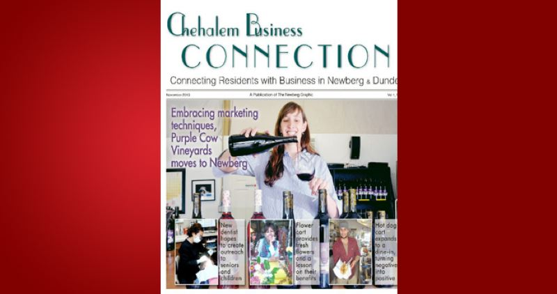 (Image is Clickable Link) by: PAMPLIN MEDIA GROUP - Chehalem Busienss Connection - November 2013