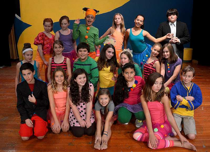 by: REVIEW PHOTO: VERN UYETAKE - Lakeridge Junior High students are putting on Little Big Top, a comedy.