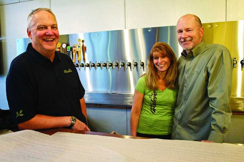 by: TIMES PHOTO: JAIME VALDEZ - Business partners Derrell Ness and Jenny and Jamie Agidius will be opening their business, The Growlerie, at Progress Ridge TownSquare this Friday.