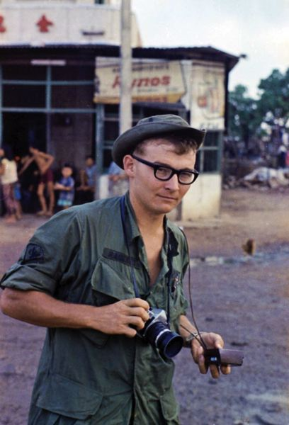 by: COURTESY OF CHARLIE HAUGHEY - Charlie Haughey took about 2,000 photos during his stint as a morale photographer with the 25th Infantry Division in Vietnam.