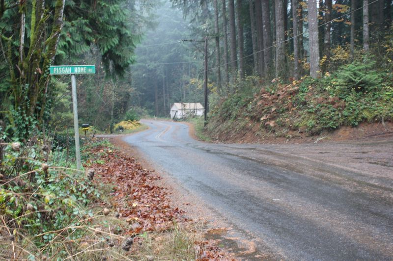 by: SPOTLIGHT PHOTO: ROBIN JOHNSON - The intersection of Siercks Road and Pisgah Home Road west of Scappoose, near where the accidental shooting occurred last Friday.