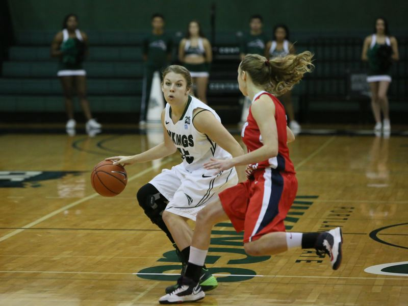 by: COURTESY OF PORTLAND STATE UNIVERSITY - Senior guard Kate Lanz is back from a knee injury for the Portland State Vikings, who lost their opener on Sunday at home to Saint Mary's.