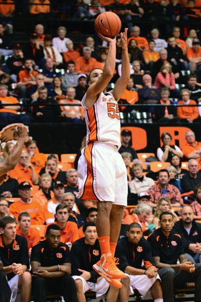 by: COURTESY OF OREGON STATE UNIVERSITY - Roberto Nelson scored a career-high 36 points for Oregon State on Sunday night, but the Beavers lost their season opener at home to Coppin State.