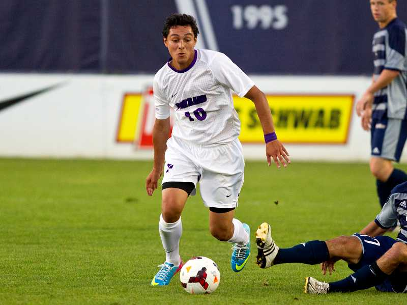 by: PORTLAND PILOTS / COURTESY - Canby High alumnus Eddie Sanchez has had a standout season as a freshman on the University of Portland men's soccer team. As of Nov. 5, he was ranked fifth in the nation in points per game with 1.79.