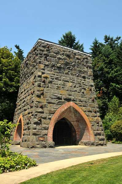 by: REVIEW FILE PHOTO - The Oswego Iron Furnace was restored in 2010.