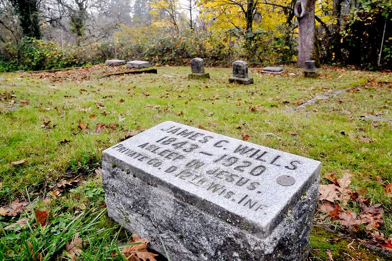 by: GARY ALLEN - Digging up history - James C. Wills is one of 55 Civil War   veterans buried at Newberg Friends Cemetery. After discovering how many veterans rest in Newberg, local author Kathy Thorne decided to write a book exploring the lives of each veteran.