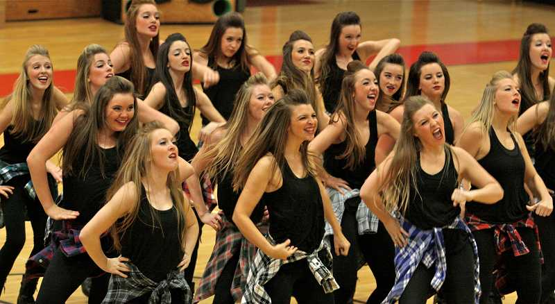 by: TIDINGS PHOTO: J. BRIAN MONIHAN - The Debs take third place with their hip-hop routine.