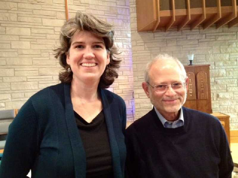 by: SUBMITTED PHOTO - Rev. Jennie Ott, pastor at Lake Oswego United Church of Christ, and Rabbi Alan Berg, rabbi at Beit Haverim, will hold a joint Thanksgiving service Nov. 21 at 7 p.m. at the building they share at 1111 Country Club Road in Lake Oswego. All are welcome to attend.
