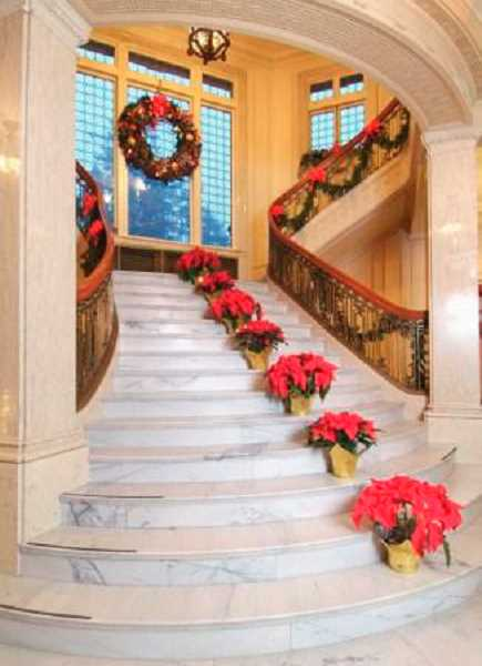 by: SUBMITTED PHOTO - The Pittock Mansion in Portland is decorated for the season. Join your friends from the LOACC in touring the beautiful home.