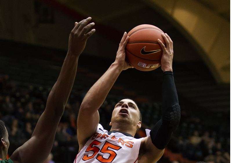 by: COURTESY OF OREGON STATE UNIVERSITY - Roberto Nelson led all scorers Wednesday night as Oregon State edged Portland 77-73 at Gill Coliseum.