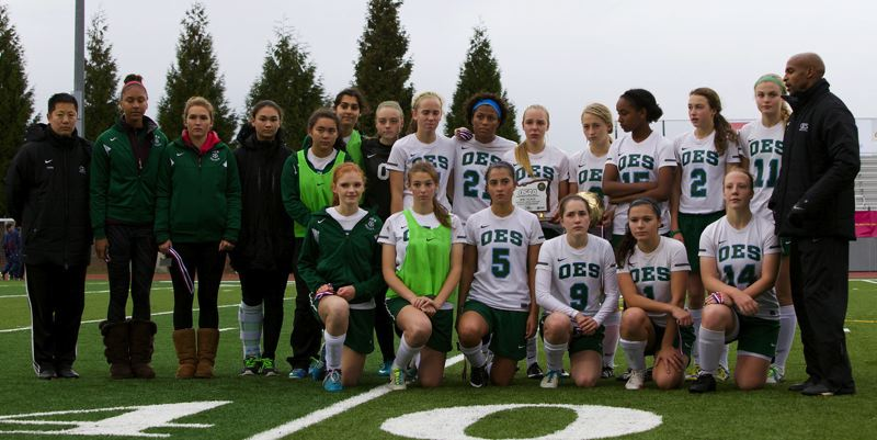 by: COURTESY OF JOHN HOLLORAN - Oregon Episcopal School's girls soccer team placed second Saturday in the Class 3A/2A/1A playoffs, falling 1-0 to Valley Catholic in the final at Liberty High.