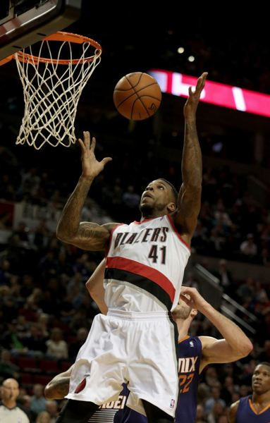 by: TRIBUNE FILE PHOTO: JONATHAN HOUSE - Thomas Robinson's play off the bench helped lift the Trail Blazers to their seventh consecutive victory Monday night at Brooklyn.