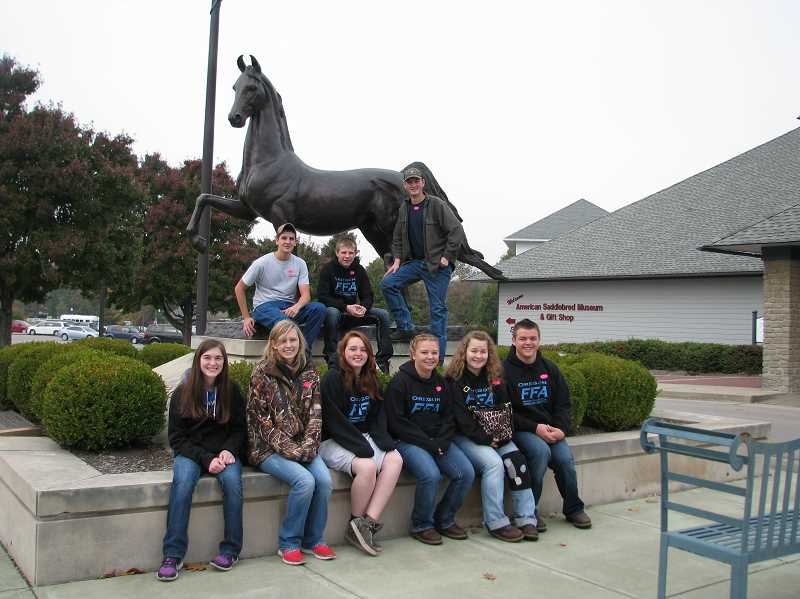 by: SUBMITTED - North Marion and Gervais FFA students and advisers spent nine days in Kentucky and Tennessee, where they visited places like the American Saddlebred Museum in Lexington, Ky.