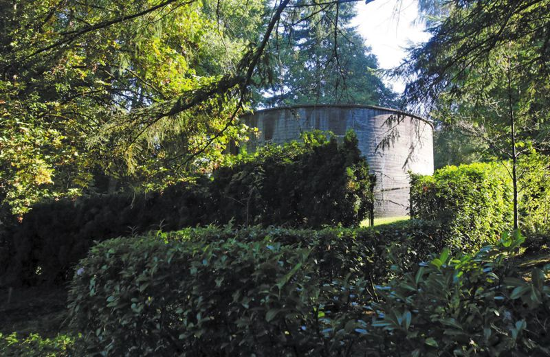 by: TRIBUNE PHOTO: JONATHAN HOUSE - This is the decommissioned Freeman Water Tank, part of a property the Portland Water Bureau intends to sell for infill development to Renaissance Homes.