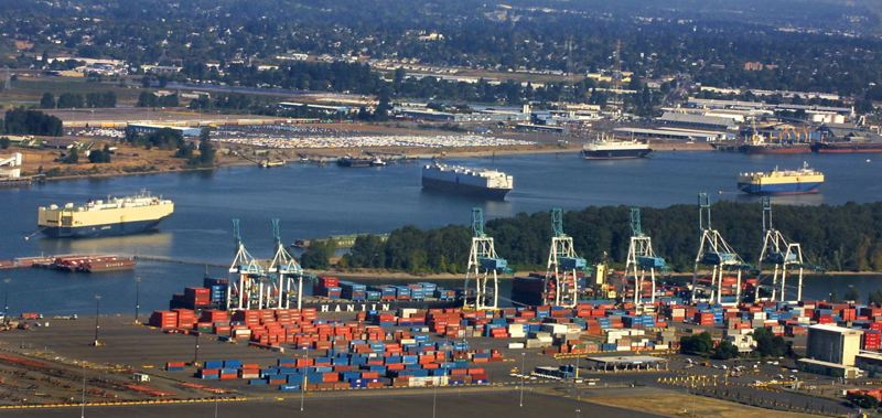 by: TRIBUNE FILE PHOTO: JIM CLARK - Experts say local products shipped through the Port of Portland bring outside money into the regional economy.