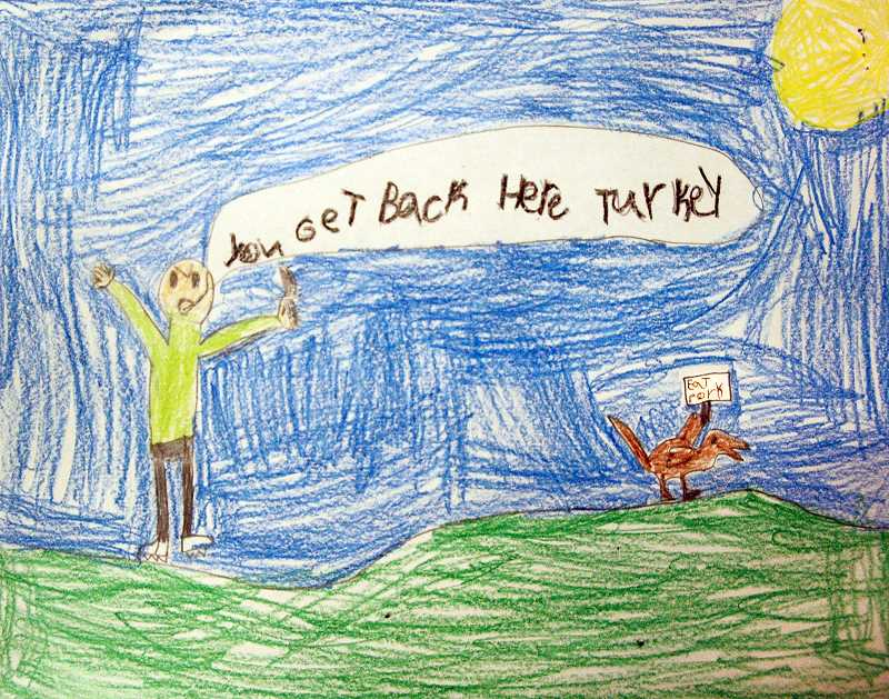 Art by James Burley, Fourth Grade, Eagle Creek Elementary, Ms. Chancellor