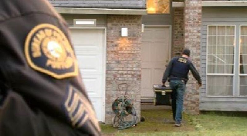 (Image is Clickable Link) by: PHOTO COURTESY OF KOIN 6 NEWS - Police execute a search warrant in the 11200 block of Southwest 45th Avenue on Wednesday in connection with a neighborhood-wide burglary investigation. One teen was arrested.