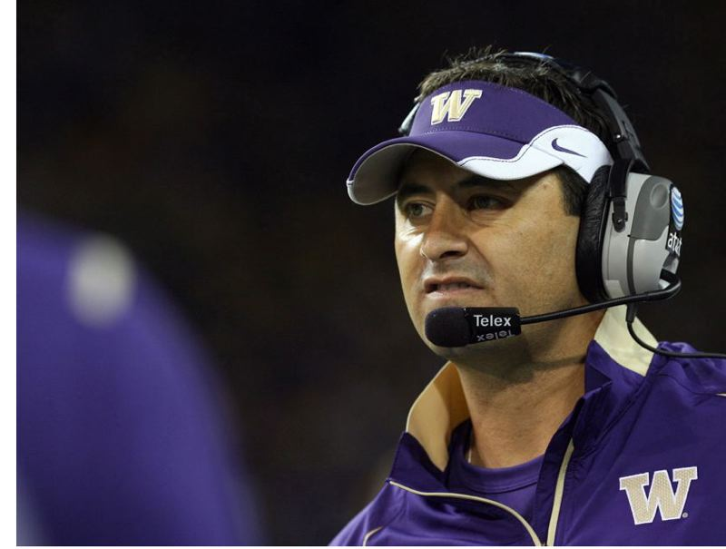 by: OTTO GRUELE JR./GETTY IMAGES - Washington Huskies coach Steve Sarkisian wants his team to do more than just be 'right there' in the close-but-no-victory-cigar department.