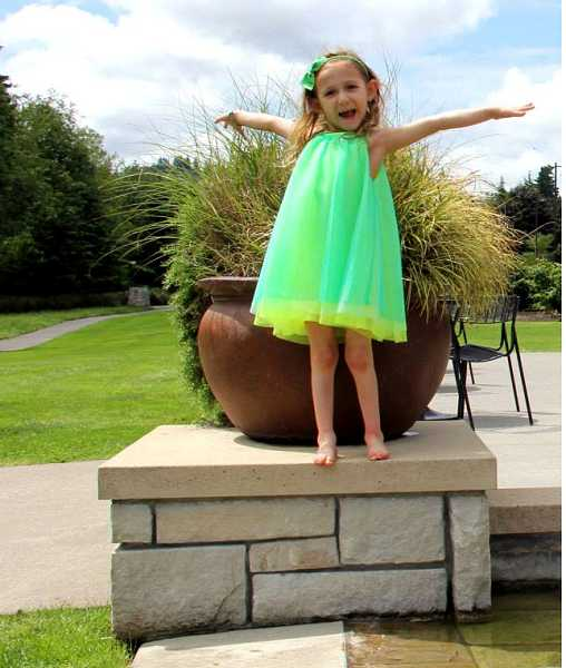 by: SUBMITTED PHOTO - Maya Muckey, 4, has a zest for life in spite of dealing with a chronic disease.