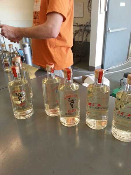 by: SUBMITTED PHOTO - Gompers Gin is a new product developed by West Linn native Jessica Hart and her husband, Michael.