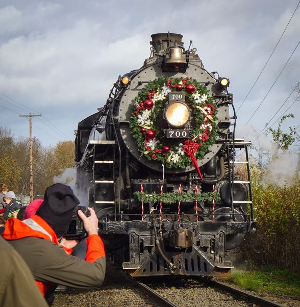 by: CONTRIBUTED PHOTO/MARK TOAL - The historic SP&S 700 will once again pull the annual Holiday Rides that beneft the Oregon Rail Heritage Center.