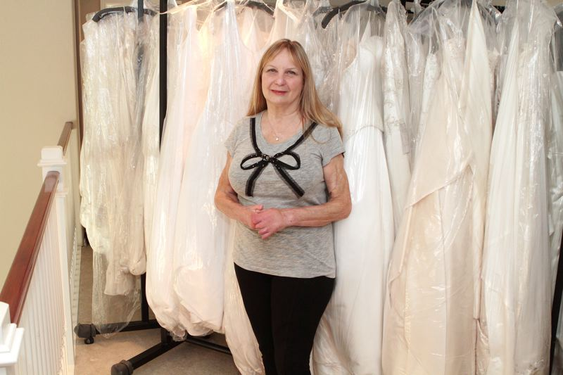 by: DAVID F. ASHTON - Clackamas-based bridal couturier, and Tres Fabu owner, Jan Schumacher - the keynote speaker at the Donate Life Northwest Lifesaver Breakfast - still runs a home business providing bridal gowns, as she once did in her store at Bybee and Milwaukie in Westmoreland.