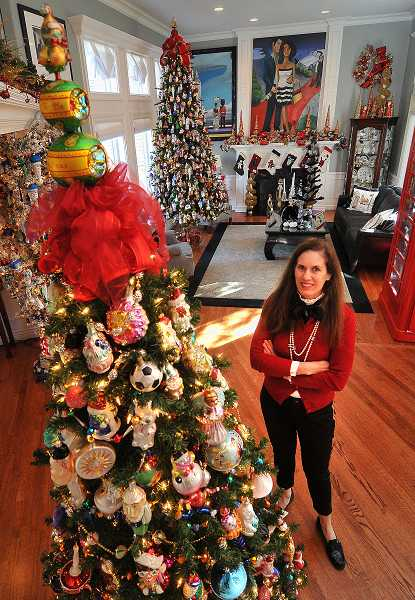 by: TIDINGS PHOTO: VERN UYETAKE - Nancy Stallings is opening her fully decorated home for the West Linn High School Holiday Tour of Homes on Dec. 8.