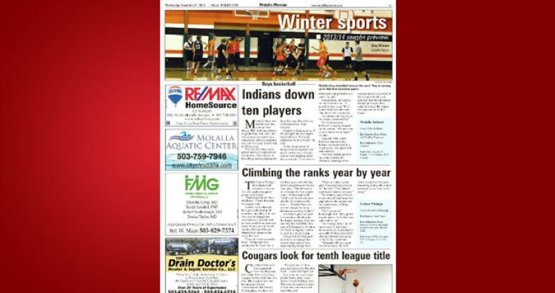 (Image is Clickable Link) by: PAMPLIN MEDIA GROUP - Molalla Winter Sports Preview