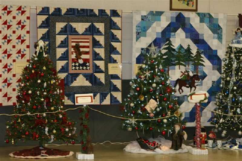 by: CONTRIBUTED PHOTO - Examples of trees sold at previous Hospice Christmas Auctons