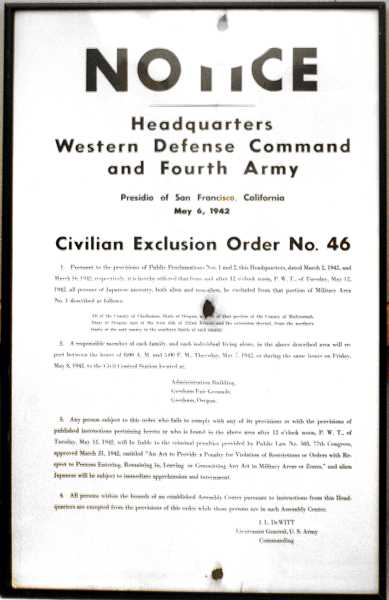 by: CONTRIBUTED - These exclusion order notices hung on posts in Gresham in 1942.
