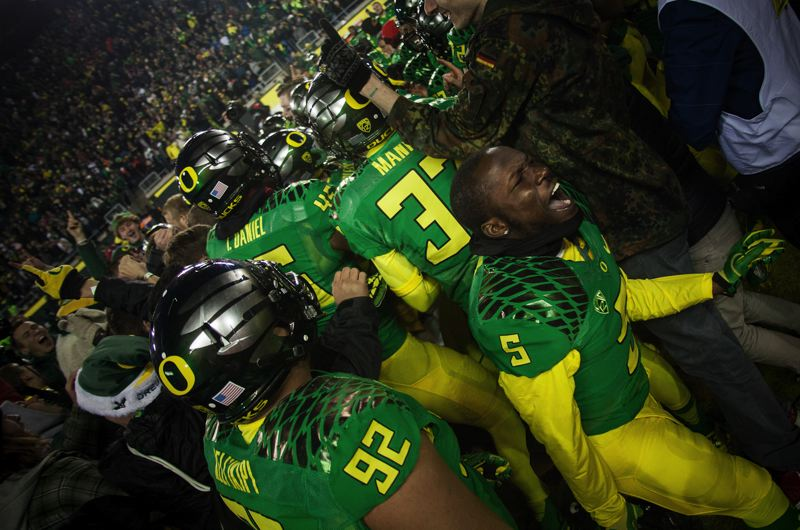 by: COURTESY OF MEG WILLIAMS - The Ducks get excited about pulling out the win.