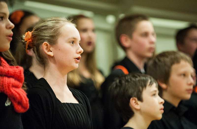 by: FILE PHOTO - Inza R. Wood Middle Schools choir is among many school groups offering performances this month.