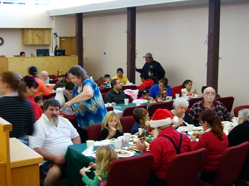 by: WILL ROBERTSON - A total of 669 meals were served on Thanksgiving at Soul's Harbor Church of the Nazarene, including 337 guests who came to the church for their Thanksgiving dinner, as shown.