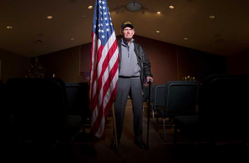 by: TIMES PHOTO: JONATHAN HOUSE - World War II veteran and Pearl Harbor survivor Bob Westerberg was stationed on the USS Nevada during the attack.