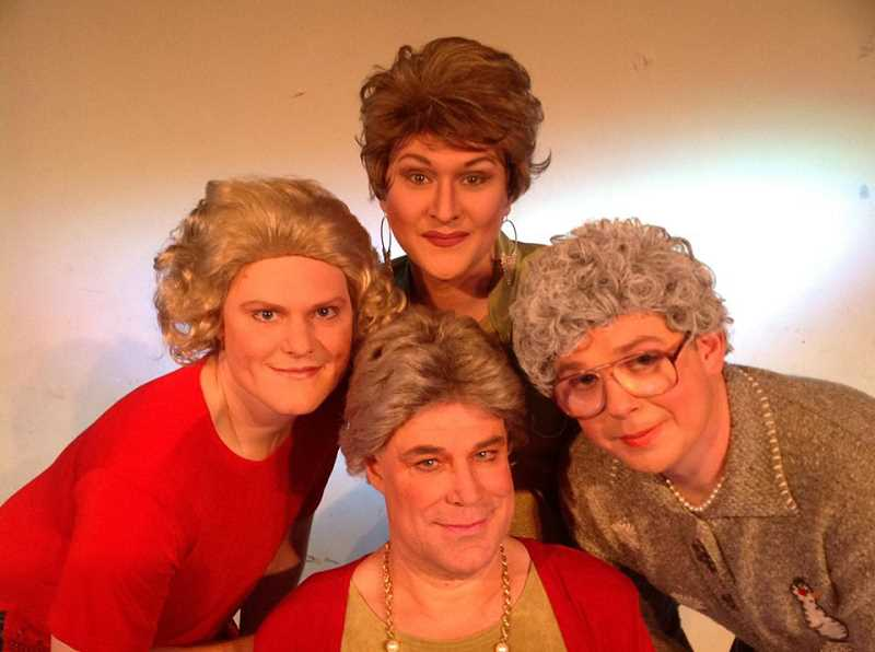 by: SUBMITTED PHOTO - Funhouse Lounge opens its all-male production of Golden Girls: Live! Friday. The show continues Friday and Saturday nights through Dec. 28.