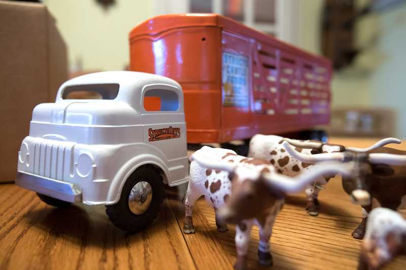 by: JONATHAN HOUSE - Once finished, John Venheims custom tin trucks bring back the nostalgia of these old toys.