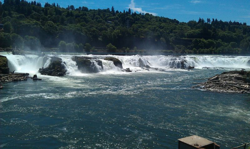 by: PHOTO COURTESY: CITY OF OC - Willamette Falls at seen from the former Blue Heron site.