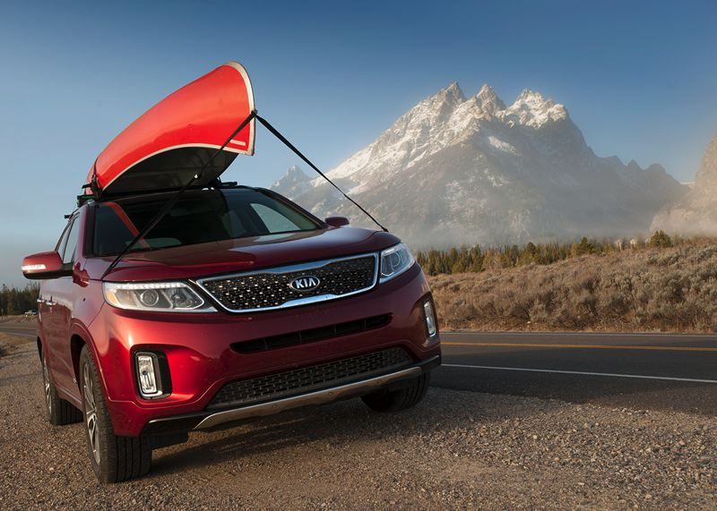 Early morning in Grand Teton National Park. The 2014 Sorento features updated front and read fascias with LED accents topping the headlights.