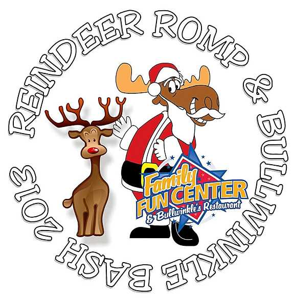 by: SUBMITTED - FIRST CHOICE: Reindeer Romp and Bullwinkle Bash Dont miss the first Wilsonville Reindeer Romp and Bullwinkle Bash. The event starts Dec. 14 at Town Center Park with a kids dash at 8:45 a.m., followed by the 5K fun run. The party starts at Bullwinkles Family Fun Center as soon as the race is over. Participants who sign up early will receive T-shirts, reindeer antlers, a red nose and a $5 game card for the Family Fun Center. The post-race party includes treats provided by sponsors Bullwinkles, Lambs Thriftway, Costco, Fred Meyer and Golazo. Sign up the whole family today at ci.wilsonville.or.us/parksandrec. Cost is $5 for early registration, $10 the day of the event.
