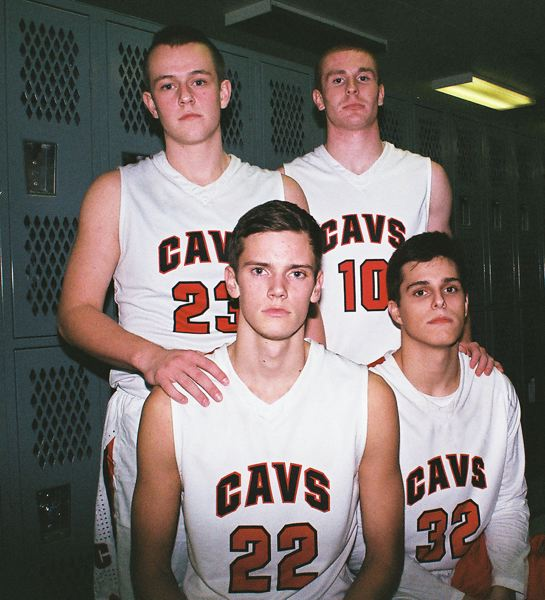 by: JOHN DENNY - With a veteran lineup, the Clackamas Cavaliers believe they have the horses to contend for the Three Rivers League boys basketball title this winter. Pictured are team captains (front, from left) Keaton Bankofier and Andrew Gutwig; and (back) Beau Gunderson and Cade Wilkins.