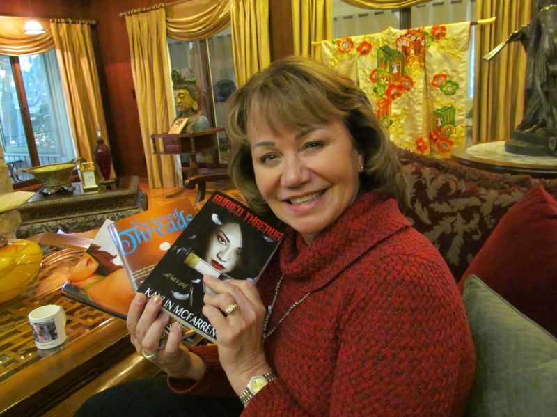 by: PHOTO BY: ELLEN SPITALERI - Linda Yoshida writes romantic thrillers and organizes events to further cancer research.