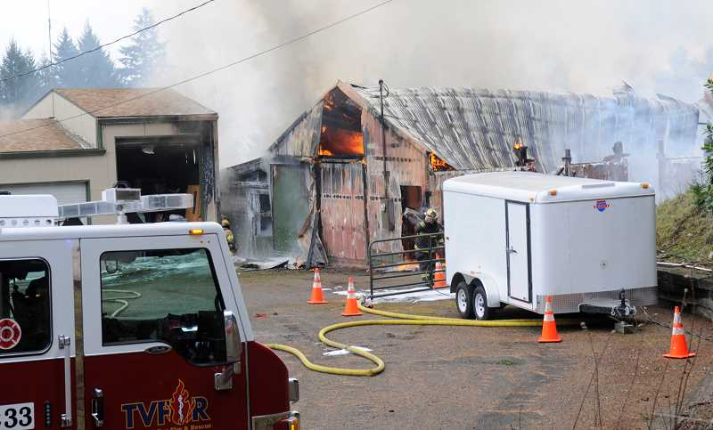by:  TVF&R - A dislodged heat lamp being used to keep chickens warm is the suspected cause of a recent fire on Parrett Mountain Road in Sherwood.