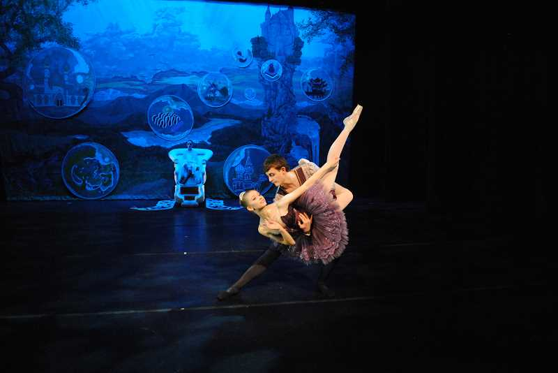 by: SUBMITTED PHOTO - Dancers Naomi Rux and Alex Stewart perform in Classic Ballet Academys The Nutcracker Dec. 12 through 15.