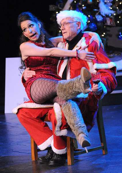 by: REVIEW, TIDINGS PHOTO: VERN UYETAKE - Stephanie Heuston performs Santa Baby during the Lakewood in Lights gala held at Lakewood Center for the Arts Dec. 2.