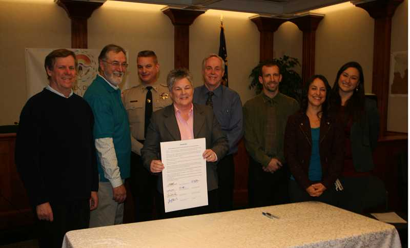 Jefferson County agency leaders joined to sign the cultural training resolution on Dec. 6.