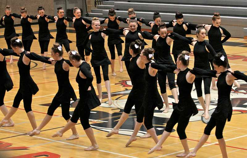 by: TIDINGS PHOTO: J. BRIAN MONIHAN - The Debs will compete in the 2014 OSAA Dance and Drill State Championships that will be held March 19-22 at Portland's Veterans Memorial Coliseum.